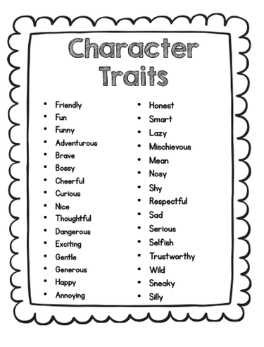 characters traits and point of view ms mason s 2nd grade